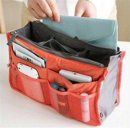 cosmetic bag insert liners NZ - Large Insert Liner Handbag Organizer Portable Ladies Travel Bag Cosmetic Purse