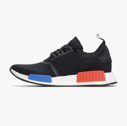 Chinese  Wholesale R1 R2 Primeknit PK Men Running Shoes jopan Triple Black white Red camo blue Runner R1 Primeknit Sneakers Sports Shoes manufacturers
