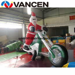 Santa Inflatable Australia - New style christmas inflatable santa claus with motorcycle lows price inflatable christmas santa claus gift for advertising