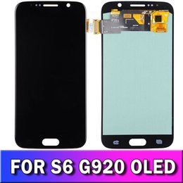 touch screen s6 Australia - LCD For Samsung Galaxy S6 G9200 G920F G920P Original LCD Display Touch Screen Digitizer 5.1 Inch Replacement Black White Gold