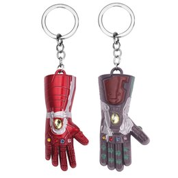 Avengers Thanos Finger Glove Keychain Creative Metal Alloy Car Key Buckle Men Women Gifts Keys Ring Party Gift TTA1535 from chain nails jewelry suppliers