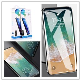 iphone screen glue Australia - Full Glue Full Front Tempered Glass Ultra Thin Screen Protector Clear Film For iPhone 11 11pro 11pro Max X Xr Xs Xs Max 8 7 6 5 5E