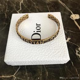 $enCountryForm.capitalKeyWord Australia - Designer Bracelet Vintage Brass Open Bracelet 2019 Luxury Fashion Accessories Full Package Adjustable Men and Women Wearable
