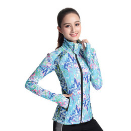 Free Running Clothing UK - Free Shipping Yoga clothing autumn and winter new ladies stretch breathable Outdoor running fitness tight sports casual long-sleeved jacket