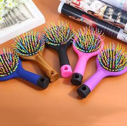 Combing Wet Hair Australia - Wet & Dry Hair Brush Original Detangler Hair Brush Massage Comb With Airbags Combs For Wet Hair Shower Brush