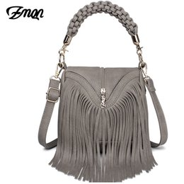 45ad4df49a3b ZMQN Women Messenger Bags Leather Handbags Tassel Famous Brands For Ladies  Retro Vintage Cross Body Bags Small Triangle New A527