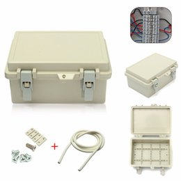 electric enclosures 2019 - IP65 Waterproof Plastic Electric Junction Box Hinged Shell Connection Enclosure Adaptable Case cheap electric enclosures