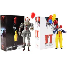 Figures Australia - Horror Movie It Character Neca Joker With Balloons Pennywise Action Figure Model Toy Halloween Gifts Y190604