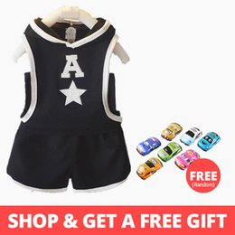 $enCountryForm.capitalKeyWord NZ - Baby boys summer clothes sets toddler casual cotton coats+short pants 2pcs tracksuits for boys newborn baby sports suits boys outfits casual
