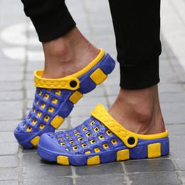 $enCountryForm.capitalKeyWord Canada - Clogs Men Beach Slippers Summer Rubber Sandals Hole Shoes Mules Flip Flops Pantufas Chinelos Garden Fashion Eva Zapatos Hombr