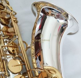 Silver tenor Saxophone online shopping - Japan Yanagisawa T Tenor Bb Tenor saxophone playing saxophone super professional Silver plating Tenor saxophone With Case Free
