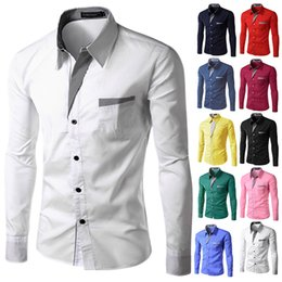 shirts designing NZ - TUNEVUSE Mens shirts Camisa Masculina Long Sleeve Shirt Men Korean Slim Design Formal Casual Male Dress Shirt Size M-4XL 8012
