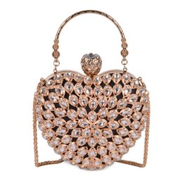Beaded crystal Bags online shopping - Pink sugao Women Evening Clutch Bag Gorgeous Pearl Crystal Beading Bridal Wedding Party Bags CrossBody Handbags love package Hand bag