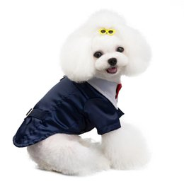 female dresses NZ - Pet Dog Vest Suit Male Dog Clothing Tuxedo Wedding Pet Dress Gentleman Costume Marriage Dog Apparel Coat Jacket