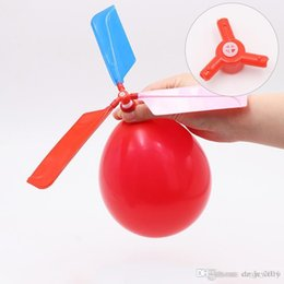 Toy Flying Helicopters Australia - 2018 hot sale flying Balloon Helicopter DIY balloon airplane Toy children Toy self-combined Balloon Helicopter free shipping