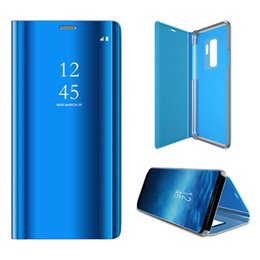 Blackberry Plate Australia - Smart Mirror Flip Leather Case For Honor 20 20Pro 20Lite Clear View Plating Cover For Honor 9X 8X Max 8C 8A Case