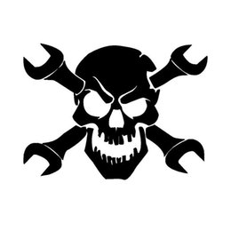 $enCountryForm.capitalKeyWord Australia - Rylybons The 2nd Half Price 15.2*10.9cm Wrench Skull Car Stickers and Decals Vinyl Full Body Car Stylings and Stickers