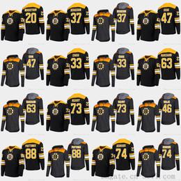 John T Shirts Australia - 2019 Platinum Boston Bruins 88 David Pastrnak 33 Zdeno Chara 63 Brad Marchand Charlie Mcavoy 74 DeBrusk Long Sleeve T-shirt Hoodies Jerseys