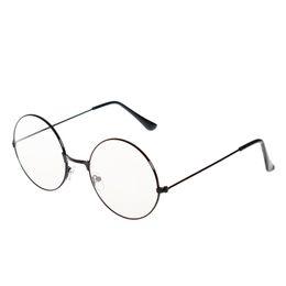019864721a 6 Fotos Lentes circulares ojo online-Moda Vintage Retro Marco de Metal  Claro Lentes Gafas Nerd Geek