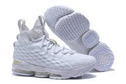 d76b45d36f3 2018 New Arrival XV LEBRON 15 EQUALITY Black White Basketball Shoes for Men  15s EP Sports Training Sneakers Size 40-46