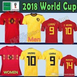2018 World Cup Belgium Soccer Jersey 2018 Home Away LUKAKU E.HAZARD KOMPANY DE  BRUYNE 18 19 Belgium football shirt WOMEN man fea38dd47