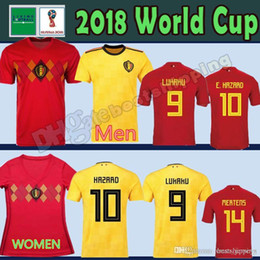 faf105e79 2018 World Cup Belgium Soccer Jersey 2018 Home Away LUKAKU E.HAZARD KOMPANY  DE BRUYNE 18 19 Belgium football shirt WOMEN man