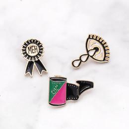 EmErald gifts for womEn online shopping - Cartoon actress shark whale film MEH medal Tears eye Brooch Pin Denim jacket Pin Badge Jewelry Gift for kids women girl
