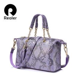 $enCountryForm.capitalKeyWord Australia - Realer Brand New Genuine Leather Handbag Women Small Tote Bag Pearl Leather Pattern Design Top-handle Bag Ladies Shoulder Bags Y19061204