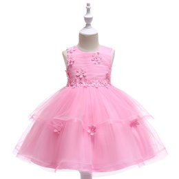 $enCountryForm.capitalKeyWord Canada - Baby Bubble Gum Pink Ivory Jewel Girl's Pageant Dresses Flower Girl Dresses Princess Party Dresses Child Skirt Custom Made 2-14 H312188