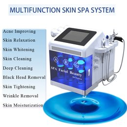 Spa head online shopping - hydrafacial dermabrasion Skin Cleaning Black Head Removal Deep Cleaning hydra facial machine Oxygen Jet rf anti wrinkle SPA and Home use