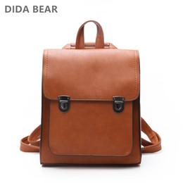 $enCountryForm.capitalKeyWord Australia - Dida Bear Women Backpack Women's Pu Leather Backpacks School Bag For Teenagers Girls New Fashion Backpack Travel Shoulder Bags Y19061004