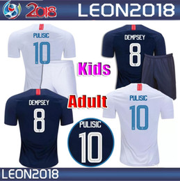717cf9a0240 Adult kids 2018 2019 USA PULISIC Soccer Jersey 18 19 DEMPSEY BRADLEY  ALTIDORE WOOD America Football jerseys youth United States Shirt
