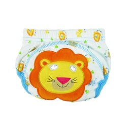 $enCountryForm.capitalKeyWord Australia - 2Pcs Cute Baby Diapers Reusable Nappies Washable Infants Children Baby Cotton Training Pants Panties Nappy Changing