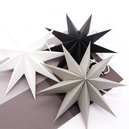 Paper Hang Diy Australia - Event Party Holiday DIY Decorations 30cm 3D Nine Angles Paper Star Hanging Paper Stars for Birthday Showers Home Party Wedding Bedroom