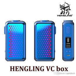 $enCountryForm.capitalKeyWord Australia - NEW HENGLING 105W VW TC VC box mod with 18650 battery up to 105w TC box mod with changeable flashing led plates Vape mod kit up to 105w