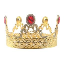 $enCountryForm.capitalKeyWord UK - Baroque Rhinestone Tiara Crowns for Women Wedding Brides Crowns Brides Jewelry Hair Accessories (Gold)