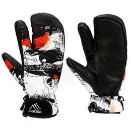 Skiing Gloves Latest Collection Of Saenshing Ski Gloves Women & Men 3 Fingers Snowboard Gloves Snowmobile Winter Skiing Windproof Waterproof Unisex Snow Gloves Fancy Colours
