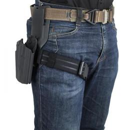 venda por atacado perna IPSC Coxa Strap pendurado especial elástico tático cinto perna coldre de cinto Gota Adapter Mounter Safariland Fazer a ligação cintura Placa