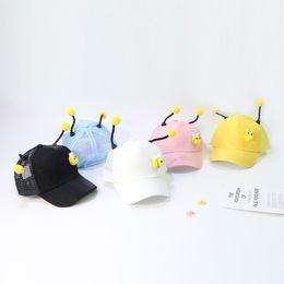 $enCountryForm.capitalKeyWord Australia - Baby Kids News Peaked Caps Small Bee Designer Kids Hats Caps Antenna Outdoor Sun-proof Hats Breathable 5 Colors
