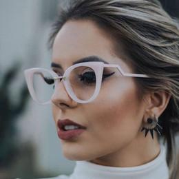 spectacle frames for ladies 2019 - Eyeglasses Spectacle Frame Women Cat Eye Computer Optical Glasses Myopia For Ladies Prescription Eyewear Frame Glasses c