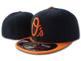 Classic Logo Designs Canada - New Orioles Black Color Classic Team On Field Baseball Fitted Hats Fashion Hip Hop Sport Full Closed Design Caps Embroidered Q'a Letter logo