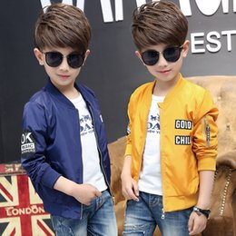 kids army jackets NZ - Spring Autumn Military Bomber Jacket Coat Kids Boys Air Force Army Tactical Jacket Warm Children Outerwear Parkas Pilot Coat