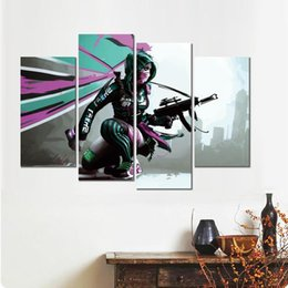 $enCountryForm.capitalKeyWord Australia - 4 sets HD canvas prints game girl sketch unframed painting wall fine art for decor
