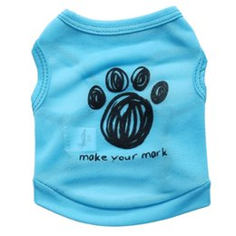 hair vests Australia - Summer Dog T shirt Vest Fashion Pet Clothes for Small Dogs Bulldog Chihuahua Pug Shirts Puppy Clothing Cat Outfits Pets Products