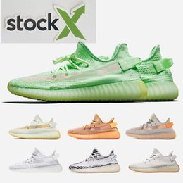 Golf shoes black online shopping - 2019 v2 v3 Kanye West True Form Hyperspace Clay Mens Women Running Shoes With Sock X Semi Frozen Yellow Sesame Sport Sneakers