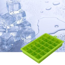 Silicone Shaped Ice Cube Trays NZ - 24 Grid DIY Big Ice Cube Mold Square Shape Silicone Ice Tray Easy Release Maker Creative Home Bar Kitchen tools 20pcs