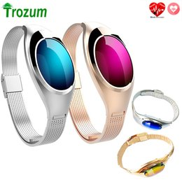 $enCountryForm.capitalKeyWord Australia - Z18 Smart Bracelet Band Blood Oxygen Heart Rate Call Reminder Luxury Fashion Smartband Wristband Wrist Watch For Woman Gift