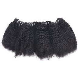 $enCountryForm.capitalKeyWord Australia - 4PCS  Lot Brazilian Virgin Hair Extensions Afro Kinky Curly Unprocessed Peruvian Curly Hair Weave Bundles Indian Human Hair Bundles