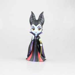 China Qposket Maleficent Sleeping Beauty Black Queen Action Figures, The Decoration Of Cake Gift Toys With The Box 17 Cm cheap queen toys suppliers