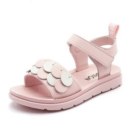 children leather sandals Canada - Princess Genuine Leather Soft Bottom Sandals Teens Children Shoes Little Girls Summer Big Kids Beach Shoes 3 6 7 8 9 11 10 To 16